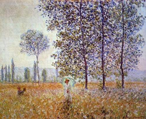 Monet - Poplars in the sunlight [2]